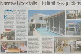 home design fails narrow block fails to limit design plans bellissimo homes