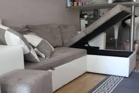 canap d angle convertible gris et blanc achetez nevada canapé quasi neuf annonce vente à lyon 69 wb152662525