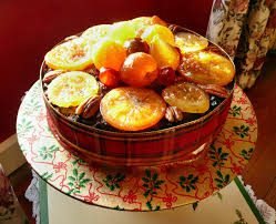 Fruit Decoration For Christmas Cake by