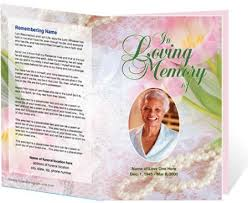 memorial service programs templates free free funeral program template cyberuse