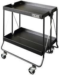 hilo home depot black friday 24 in steel glide rolling folding 2 shelf utility cart textured