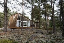 modern vacation cabins at the hölick sea resort in sweden small