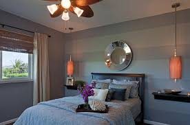 painting stripes of the same color on walls for master bedroom