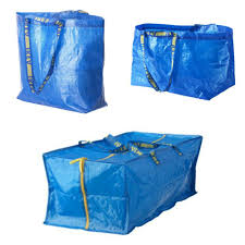 ikea frakta shopping bag medium large storage bag for cart blue