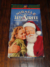miracle on 34th street 1947 film vhs tapes ebay