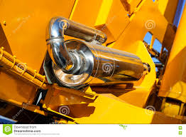 spark arrestor of construction machine stock photo image 75304746