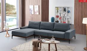Modern Fabric Sectional Sofa 709 Modern Sectional Sofa In Grey Free Shipping Get Furniture