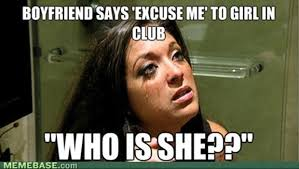 Funny Girlfriend Memes - boyfriend says excuse me to girl in club funny girlfriend meme image