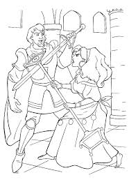 coloring page hunchback of notre dame kids n fun coloring