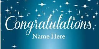 congratulations engagement banner banner blue