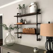 Diy Shelves For Bathroom by Diy Pipe Shelving Mindfully Gray