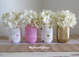 jar centerpieces for baby shower pink and gold centerpieces pink jar decor pink and