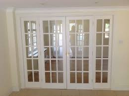 Glass Panel Room Divider White 15 Glass Panel Internal French Doors U0026 Frame 2 4m Wide X 2m