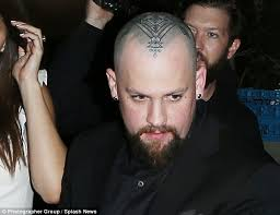 benji madden debuts massive tattoo on his shaved head as he and