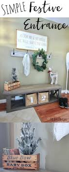 rugged home decor simple festive entrance how to decorate an open concept entrance