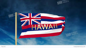 Flags In Hawaii Hawaii Flag Slider Style With Title Waving In The Wind With Cloud
