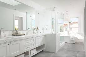 white master bathroom ideas white master bathroom with gray tiled floors transitional bathroom