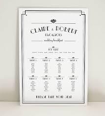 Art Deco Wedding Art Deco Estelle Wedding Table Plan By Project Pretty