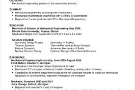 Sample Resumes For Mechanical Engineers by Mechanical Engineer Student Resume Examples Reentrycorps