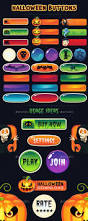 halloween buttons for web and games download free psd and html