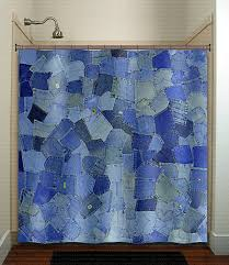 Shower Curtain With Pockets Blue Pockets Denim Jeans Shower Curtain Bathroom Decor Fabric