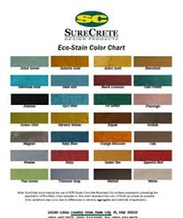 Stain Color Chart Concrete Coating Color Chart Color Charts