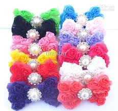 bows for hair baby hair bows 3inch diy lace 3d bowknot chiffon hair