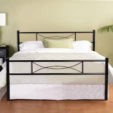 bedroom full metal bed frame platform base mattress foundation