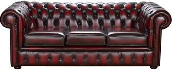 Vintage Leather Chesterfield Sofa Snug City 3 Seater Antique Leather Chesterfield Sofa Made In The