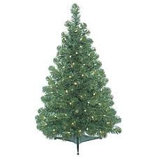 3 foot christmas tree with lights trees under 4 ft kmart