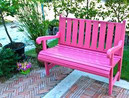 Pink Outdoor Furniture by 59 Outdoor Bench Ideas Seating Pictures U0026 Designs Designing Idea