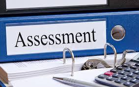 reliure bureau reliure bleue d évaluation dans le bureau image stock image du
