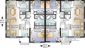 family floor plans multi family plan w3055 detail from drummondhouseplans com