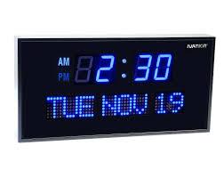 lighted digital wall clock illuminated digital wall clock image of lighted digital wall clock