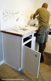 kitchen removing base cabinet countertops u0026 backsplash