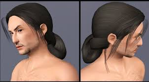 How To Choose Your Hairstyle Men by Mod The Sims Two Historical Asian Inspired Long Tied Hair