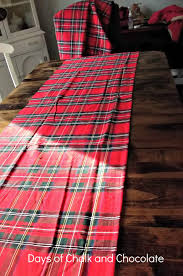 plaid runner decor days of chalk and chocolate