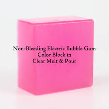 color block non bleeding electric bubble gum