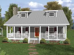 country house plans one story one and a half story home with covered porch and dormers