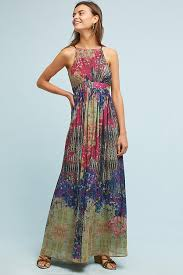 maxi dress abstracted floral maxi dress anthropologie