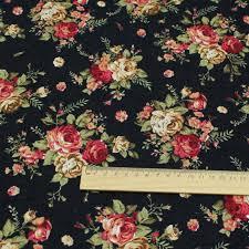 Handmade Fabric Crafts - cotton linen diy country style handmade fabric classic black