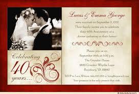 40th anniversary invitations wedding anniversary wording ideas invitation verses marriage 40th