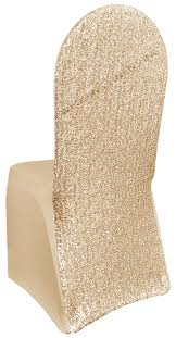 champagne sequin spandex chair covers wholesale