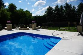 penguin pool u0027s custom inground pool steps made of concrete steel