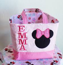 personalized minnie mouse tote bag minnie by creativebagsforkids