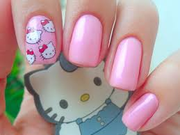 36 best hello kitty nails images on pinterest hello kitty nails