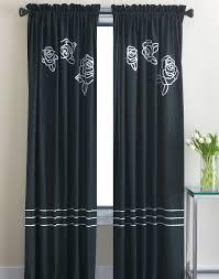 White Black Curtains Curtain Charming Home Interior Accessories Ideas With Cute