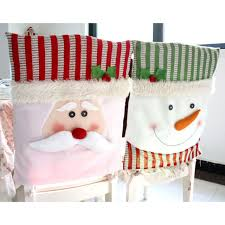 snowman chair covers aliexpress buy 2xsanta claus snowman chair covers