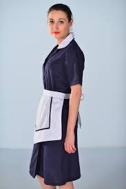 blouse femme de chambre femme bleu nuit