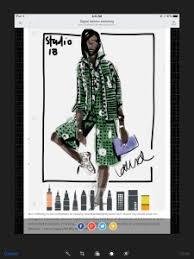 tayasui sketches app fashion illustration of naomi campbell